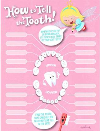 pink tooth chart